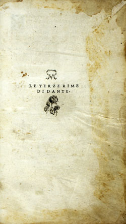Cover of Le terze rime