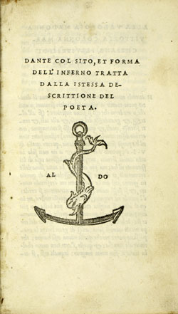 Cover of Dante, col sito et forma dell'Inferno