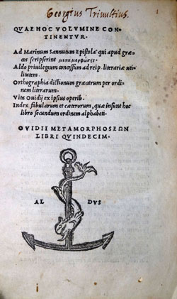Cover of Metamorphoseon Libri XV