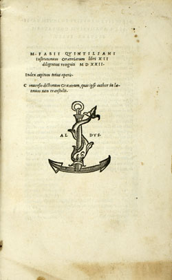 Cover of M.F. Quintilianus
