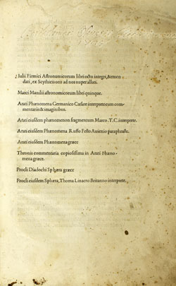 Cover of Scriptores Astronomici